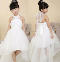JPSKIRT1505142 2015 wholesale fashion hot sale new summer girls children princess strapless pure color bow wedding dress 3 color
