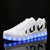 2016 APP Bluetooth controlled sport light up led shoes men