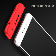 2017 Popular 360 Full Protective Case For Redmi Note 4X 3 in 1 Hard PC Armor Shockproof Back Cover Case For Xiaomi Note 4X