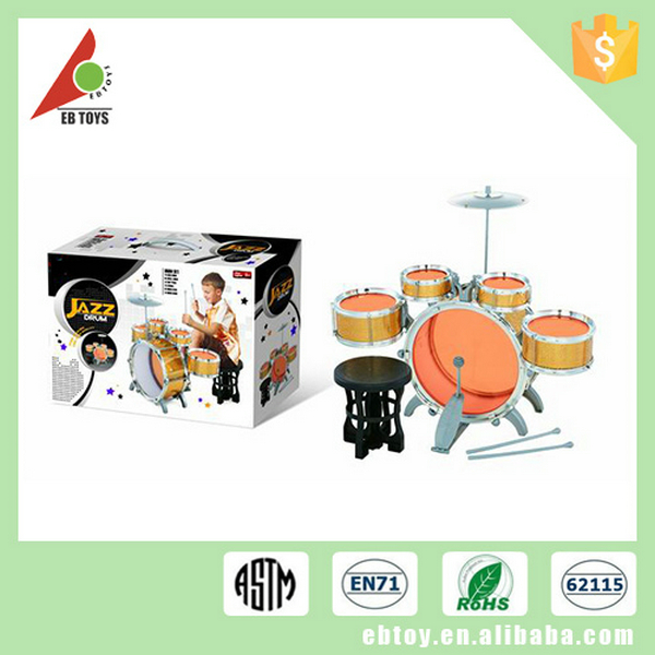 Promotional musical instrument toy electronic plastic miniature kids drum set