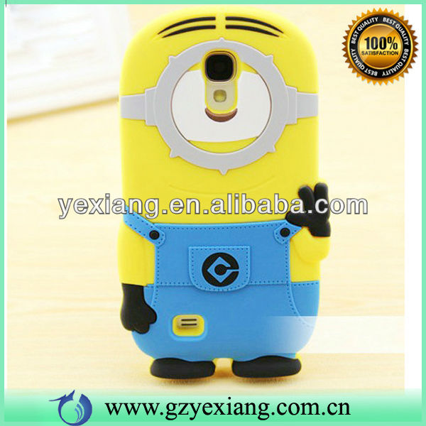 Despicable Me Case Silicon Animals 3d Minions Silicone Case For Samsung S4