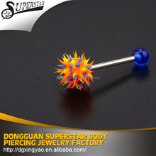 Free sample silicone 16g industrial barbell