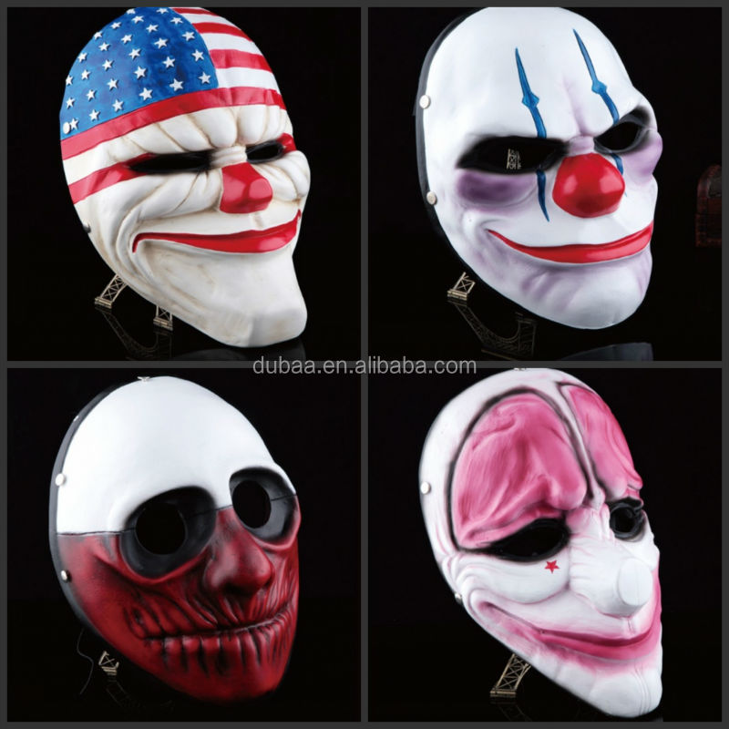 China Manufacturer Harvest Day 2 Pop Movie Halloween Resin Mask Wholesale