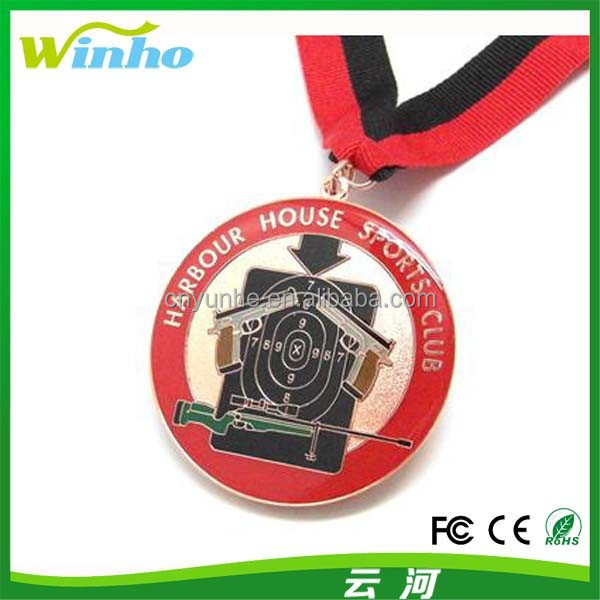 Winho Die Stamp Antique medal with ribbon