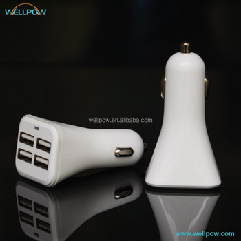 Multi USB ports multi-purpose car charger with 4 USB output 5V 6.8A