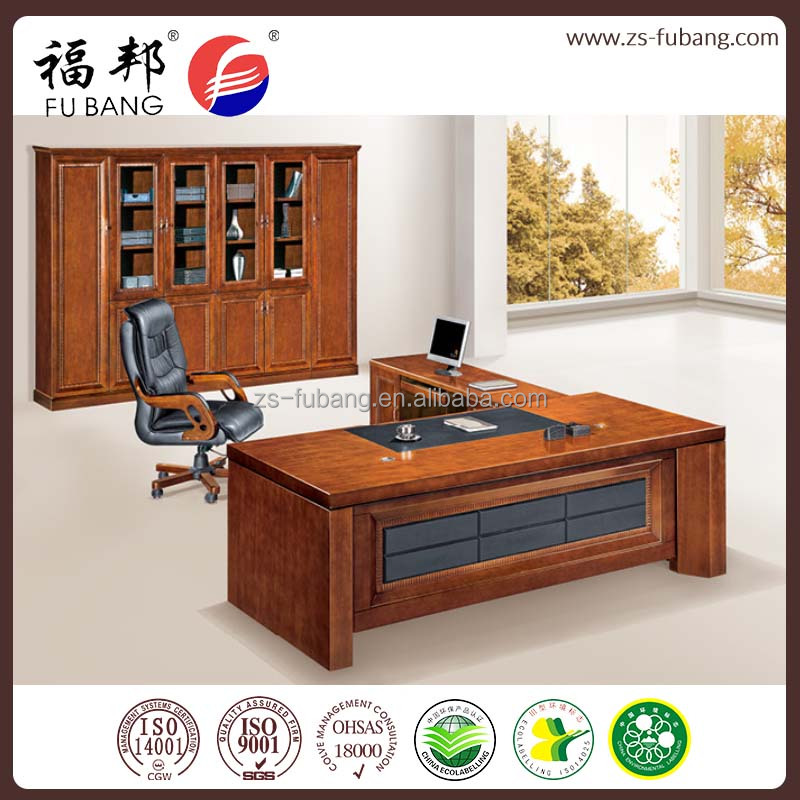 executive solid wood veneer furniture with modern design supplier office working desk