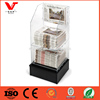 MDF wooden base acrylic shelf racks for newspaper display