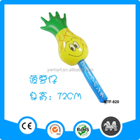 Inflatable bang stick,lovely pineapple pvc inflatable stick