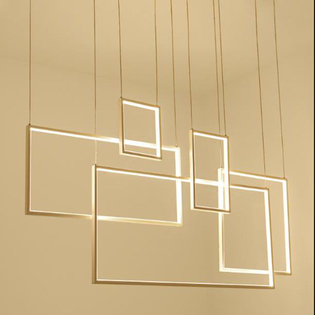 Zhongshan modern led rectangle acrylic kitchen pendant lighting with promotion price