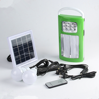 Strong solar powered home use mini lighting system with mobile charger