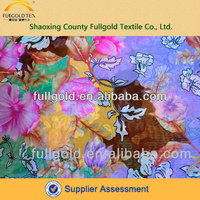 Wholesale digital printed polyester chiffon fabric for clothing