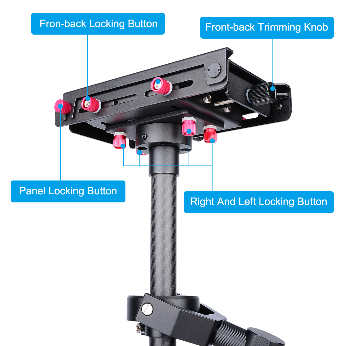 Professional Handheld Carbon Fiber Camera Stabilizer For DSLR And Camcorders