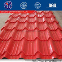 color coated corrugated metal house roofing sheet, colored metal roof tile