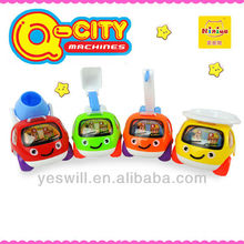 Q-CITY plastic pull back truck toys for kids