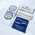 Customized Fashion High Density garment damask woven labels clothing labels