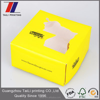 SGS FDA certification disposable food grade paper box/food packaging lunch box