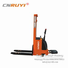 Jiangsu 1.8t Walkie/Standing Electric Stacker powered pallet battery high fork lifter