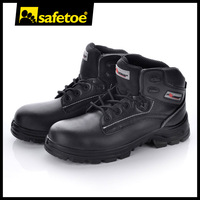 Water resistant sweat breathable grain leather safety shoes M-8356