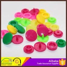 Eco-Friendly colorful color plastic snap fasteners for clothes