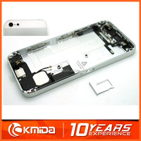 Metal Back Battery Cover Full Housing Assembly For iphone 5 5G Black White