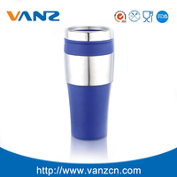 Plastic travel coffee mug double wall melamine cup