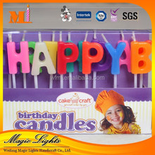 Happy Birthday Letter Candle for sale
