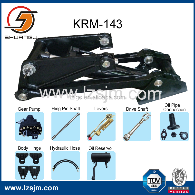 OEM China KRM143 dump truck telescopic hydraulic cylinder factory