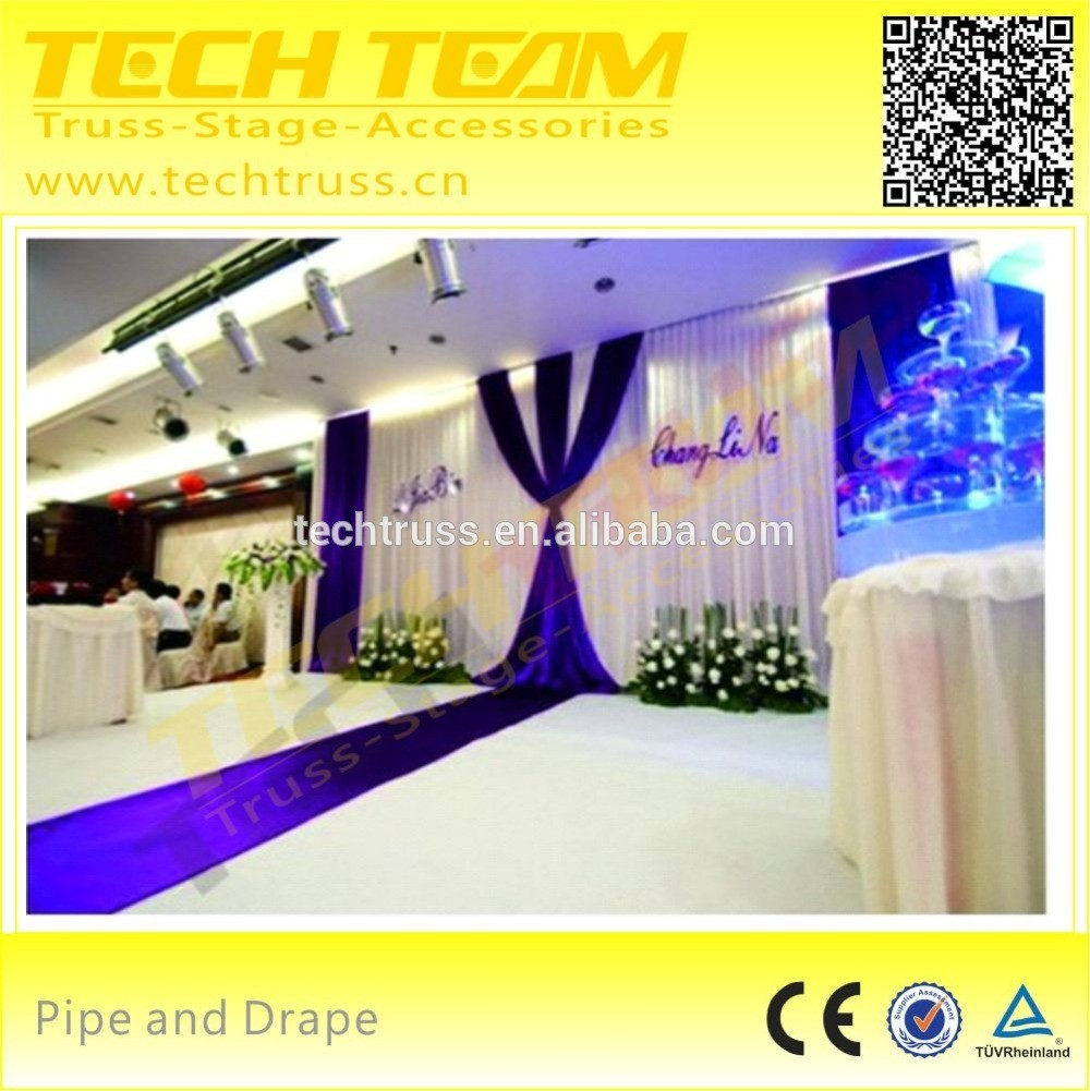 Aluminum Portable Telescopic backdrop stand pipe drape for wedding