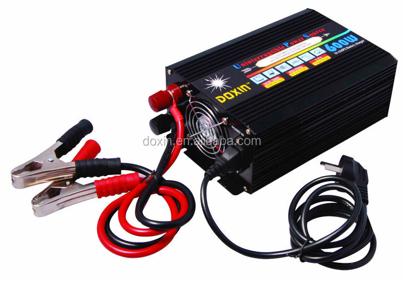 12v 220v ups inverter with charger 600v dc ac converter