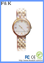 Custom your own brand unisex 22k gold watch