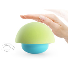 USB Charge Beat Silicone Tumbler Mushroom Atmosphere Lamp Touch Dimming Colorful Lantern outdoor festoon new led egg lighting