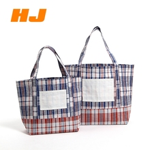Promotional cheap recycle woven pp woven shopping bag with logo printing