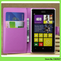 Lichee Pattern Flip PU Leather Case Cover for Nokia Lumia 925