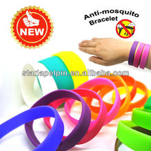 cheap custom logo silicone anti mosquito wristband band