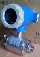 China Tri clamp type electromagnetic flow meter used in milk with low cost