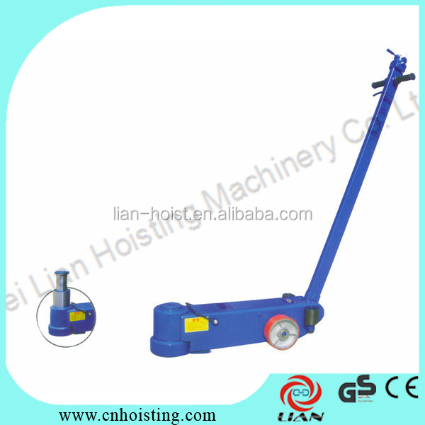 Air hydraulic manual crank jack