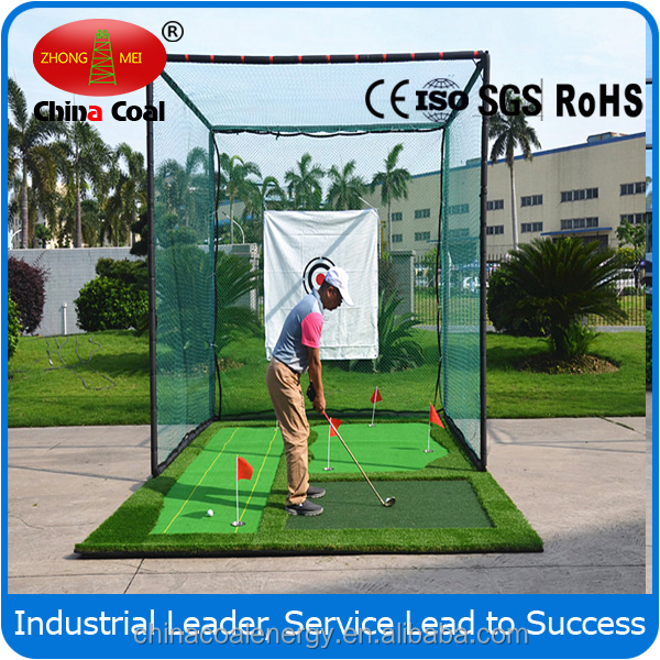 Golf Target Practice Nets And Mats Used For Golf Training Course