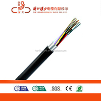 Outdoor single mode duct type fiber optic cable GYTA