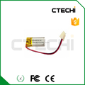 lipo 451020 3.7v 50mah rechargeable battery with wire and plug