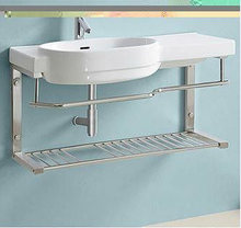 Bathroom Stainless steel stand cabinet basin