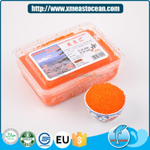 Professional frozen seafood seasoned capelin fish eggs for sale