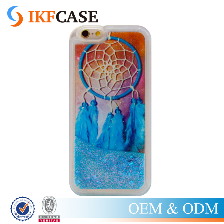 Dream Catcher Wind Bell Moving Liquid Color Sand Glitter Soft Silicone TPU Case for iPhone 4G 5G 6G