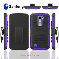 Protective Belt Clip Rugged Kickstand Case Cover for LG K10 for LG K10 Combo Cover