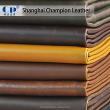Imitation Leather Fabric For Sofa Making With Haircell Pattern