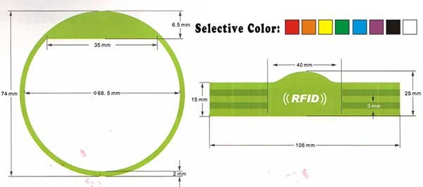 Silicone Wristbands- MWG1704Series -RFID card