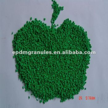 Grass Green Rubber Granules for turf infill