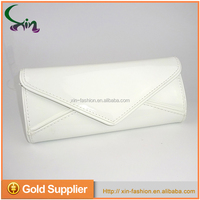 Elegant wallet white pu leather purse clutch evening hand bags