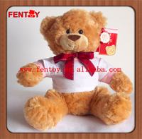 Wholesale jumper T-shirt baby cheap stuffed soft teddy bear plush toy