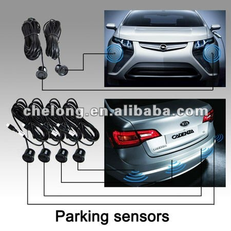 Dual CPU Three Color auto lcd display parking sensor