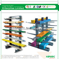 Double Side Warehouse Storage Steel Cantilever Rack